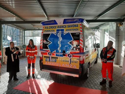 Savona, inaugurata la Mobile 80: la nuova ambulanza della Croce Bianca (FOTO e VIDEO)