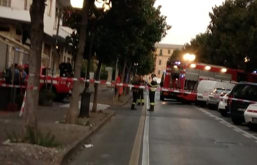 Albenga, fumo da un contatore elettrico: intervento dei vigili del fuoco