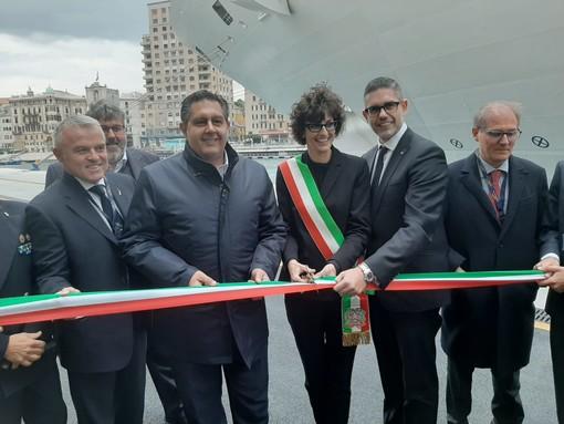 """Savona, inaugurata la nuova banchina portuale in vista dell'arrivo della Costa Smeralda, Toti: """"Italia-Finlandia 1-0"""""""