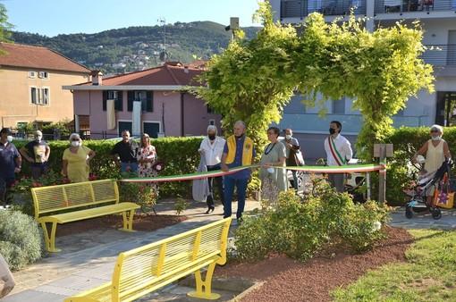 Lions e Comune di Spotorno uniti hanno inaugurato il nuovo percorso per ipovedenti a Parco Monticello