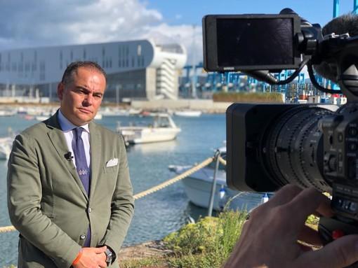 Il presidente della Provincia Olivieri intervistato dalla China Central Television