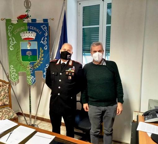 Ceriale, il sindaco Romano incontra il nuovo comandante dei carabinieri