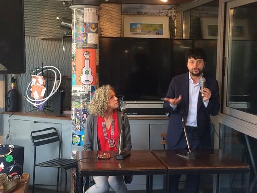 Brando Benifei e Monica Cirinnà ai Giardini Luzzati di Genova per lanciare l'Europa dei diritti
