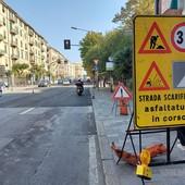 Buche stradali a Savona: via all'asfaltamento di corso Mazzini (FOTO)