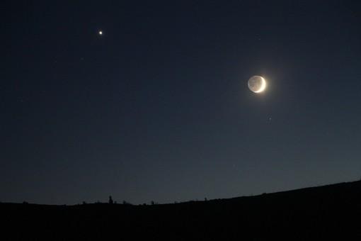 In gallery: le foto della Luna con Venere di domenica 15 e la foto della Luna con Giove di venerdì 20