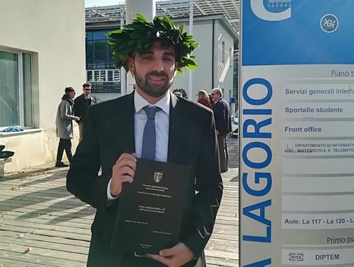 Congratulazioni a Luciano Parodi, oggi laureato in Scienze della Comunicazione