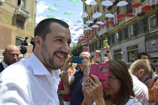 Il vicepremier Matteo Salvini è atteso ad Albenga