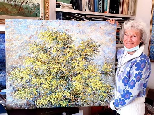 'Mimosa Art Challenge' a Seborga: l'alassina Binny Dobelli si aggiudica il secondo premio (FOTO)