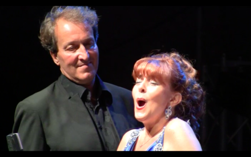 I cantanti lirici Linda Campanella e Matteo Peirone