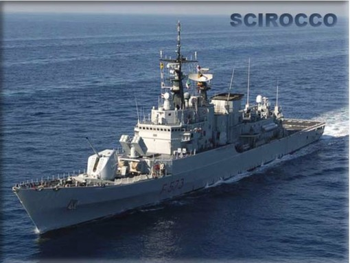 """A Savona arriva la fregata della Marina Militare """"Scirocco F573"""""""