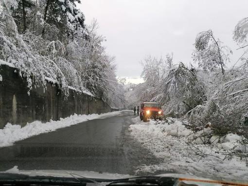 Neve in Val Bormida: continua la messa in sicurezza del territorio da parte dei vigili del fuoco