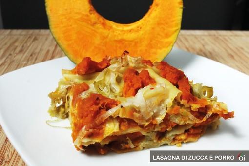 MercoledìVeg di Ortofruit: oggi prepariamo lasagna di zucca e porro