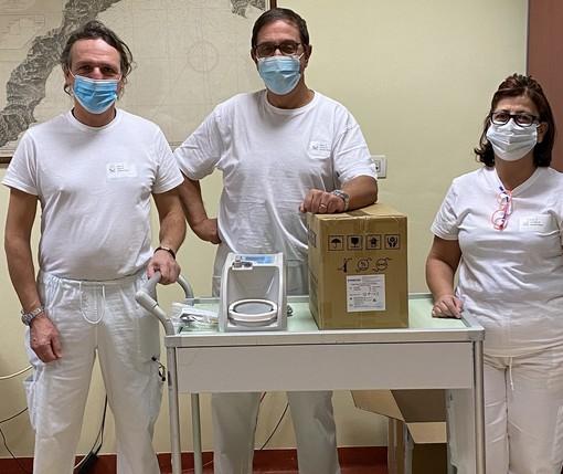 Ospedale Albenga, dal Rotary nuove apparecchiature respiratorie (FOTO)