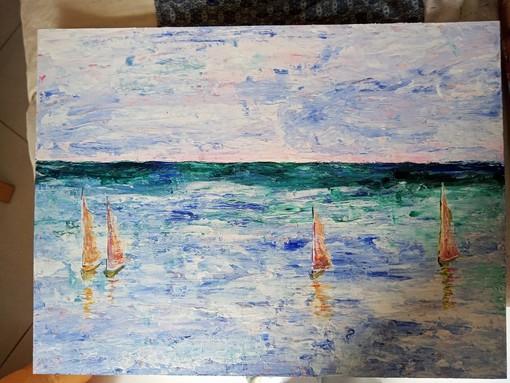 """Loano, nella Sala del Mosaico la mostra """"Giochi d'acqua"""" di Cristina Sartore"""
