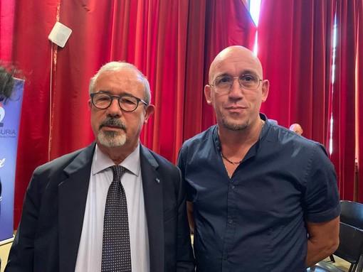Patrizio Lai ritratto insieme al segretario generale nazionale Carmelo Barbagallo in visita a Savona qualche settimana fa