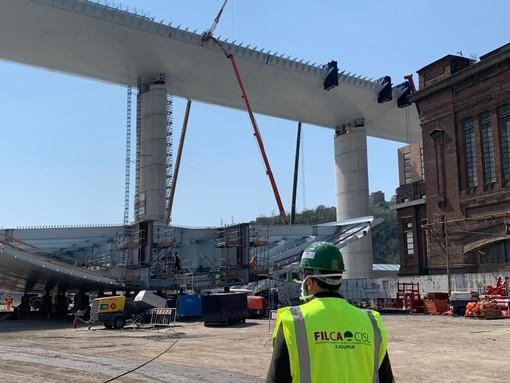"""Ponte Morandi, Tafaria (Filca-Cisl): """"Massimo sforzo per azzerare i rischi per i lavoratori"""""""