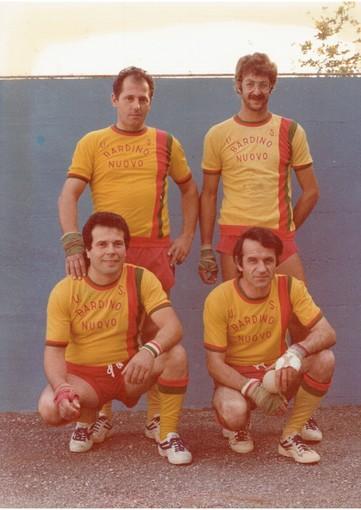 Nella foto: la squadra del Bardino Nuovo campione d'Italia di Serie B del 1979