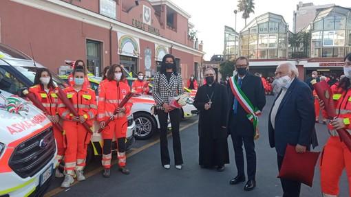 Presentati pubblicamente oggi i cinque nuovi veicoli della Croce Bianca Albenga (FOTO e VIDEO)