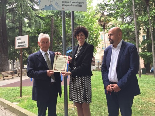 Savona, inaugurata questa mattina la targa dedicata al gemellaggio con Villingen-Schwenningen