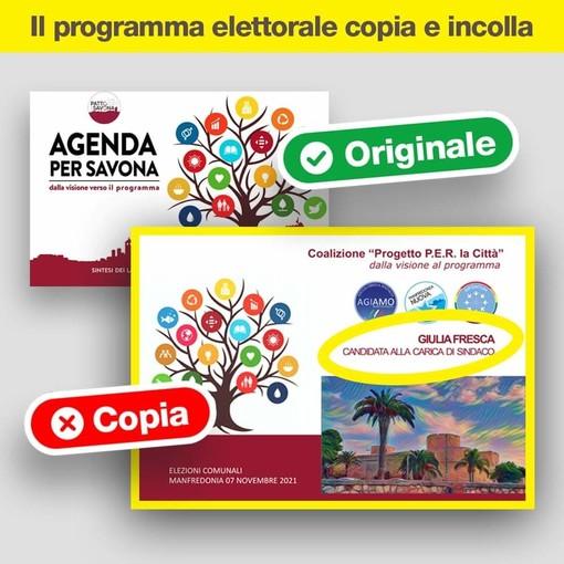 """Savona, il programma elettorale di Russo """"copiato"""" da una candidata di Manfredonia? La rivale: """"Imbarazzante e paradossale la scopiazzatura"""""""
