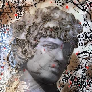 Immagine:  Italo Rocca, Dioniso, 2019, tecnica mista, cm. 90x65