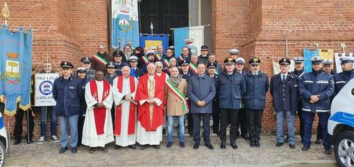 A Carcare i festeggiamenti per San Sebastiano, patrono della polizia locale (FOTO)