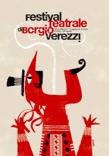 """Mentre """"Giuda"""" debutta al Festival di Verezzi, i manifesti per l'evento di Sergio Olivotti sono esposti in Messico"""