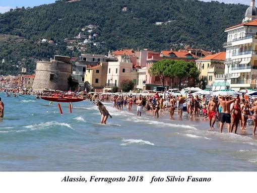 Alassio, calo dei turisti a Ferragosto (FOTO)