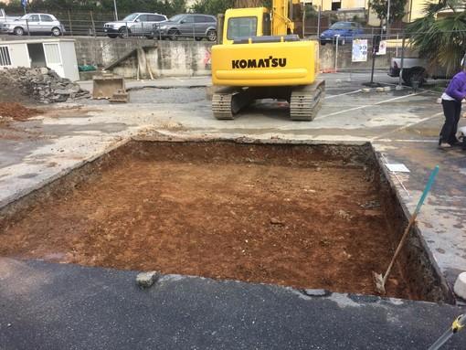 Lavori in corso ad Alassio: sopralluogo alla frana di Moglio e scavi archeologici via Pera