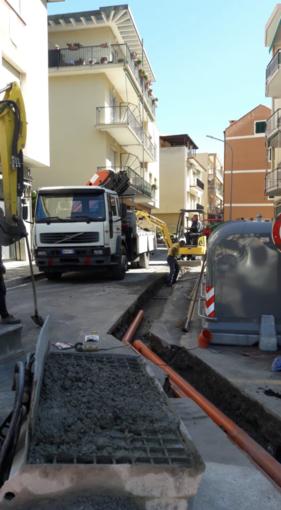 Spotorno continuano gli interventi di riqualificazione della pubblica illuminazione in viale Europa e vie trasversali