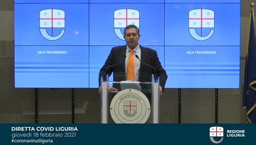 """Covid, Toti: """"Dati confortanti, ma nell'estremo ponente ligure contagi ancora sopra la media"""""""