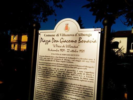 Villanova d'Albenga commemora la storia di Don Giacomo Bonavia dedicandogli una targa davanti alle scuole (FOTO e VIDEO)