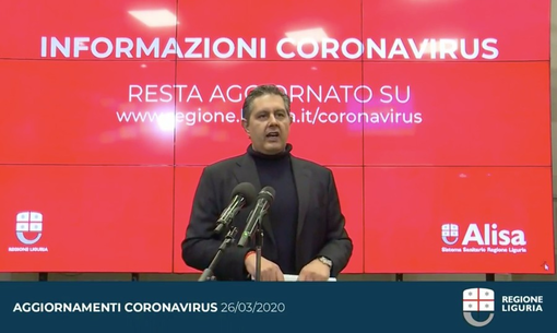 """Coronavirus, Giovanni Toti: """"La curva del contagio continua a scendere, le misure di contenimento funzionano"""""""