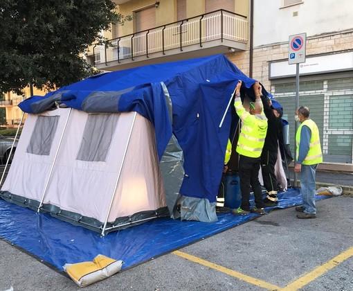 """Emergenza Covid-19: per tamponi e vaccinazioni ecco una tenda per """"Pietra Medica"""""""