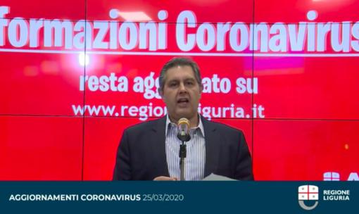 """Emergenza Coronavirus, Toti: """"Contagi in calo rispetto a ieri, l'epidemia sta rallentando. Sono giorni fondamentali"""" (VIDEO)"""