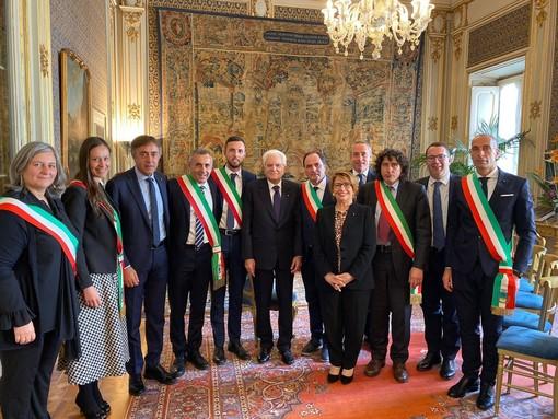 Poste Italiane, il presidente Uncem e una delegazione di sindaci incontrano Mattarella