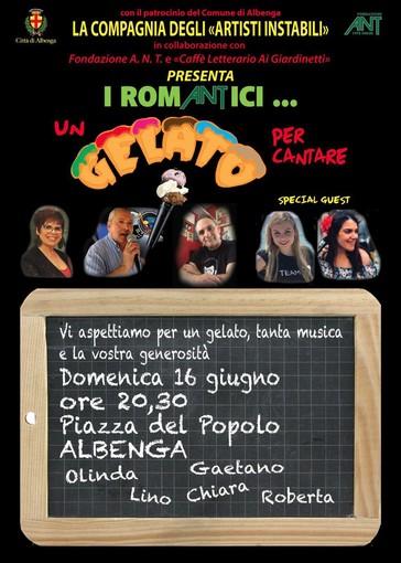 """""""Un Gelato Per Cantare"""": ad Albenga una serata benefica Pro ANT"""