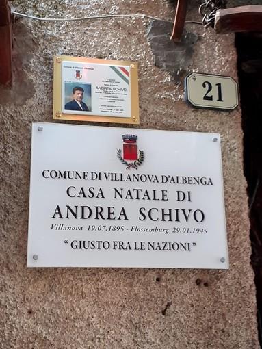 Villanova d'Albenga, scoperta targa sulla casa natale di Andrea Schivo