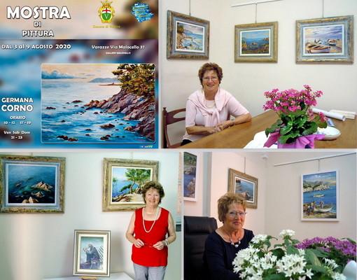 Alla Gallery Malocello di Varazze la mostra di Rosa Brocato e Germana Corno