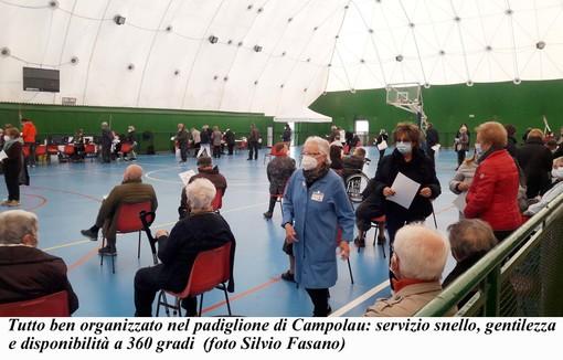 Albenga: tra San Carlo e Campolau somministrazioni di vaccini a pieno regime