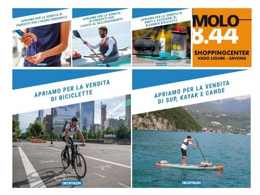 """Il Molo 8.44 """"aperto all'aperto"""": da venerdì 8 maggio riapre anche Decathlon"""
