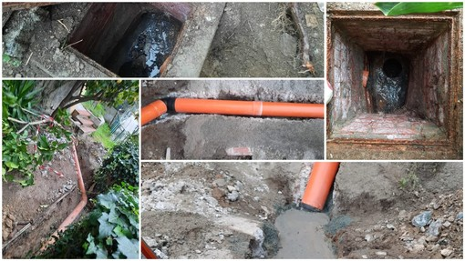 Savona, già avviati i lavori per rimediare alla perdita di acque nere in via Turati (FOTO)