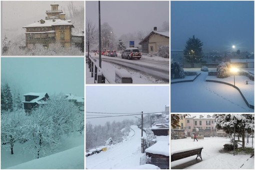 Prosegue a nevicare in Val Bormida: accumuli importanti (FOTO e VIDEO)