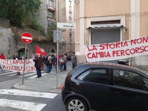 Savona, Villapiana si ferma per l'inaugurazione della sede di CasaPound (FOTO e VIDEO)