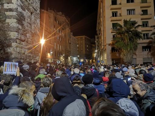 """Sardine a Savona, Arboscello: """"Una bellissima piazza, colorata e pacifica, per una società aperta e tollerante"""""""