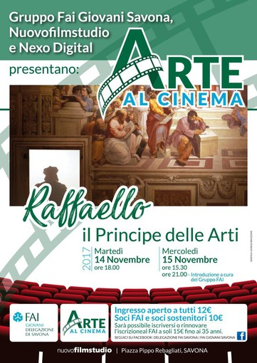Gruppo Fai Giovani Savona, Nuovofilmstudio e Nexo Digital presentano: Arte al Cinema