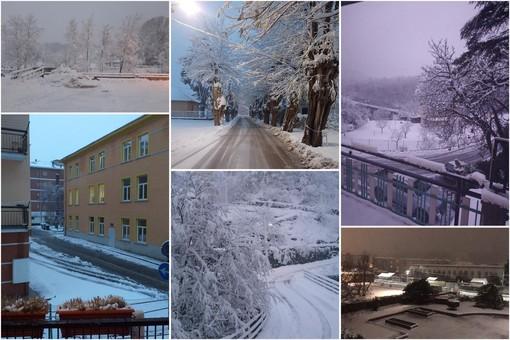 Neve in Val Bormida: 40 cm sul monte Settepani (Osiglia). Temperature sotto lo zero. A6 chiusa al traffico pesante