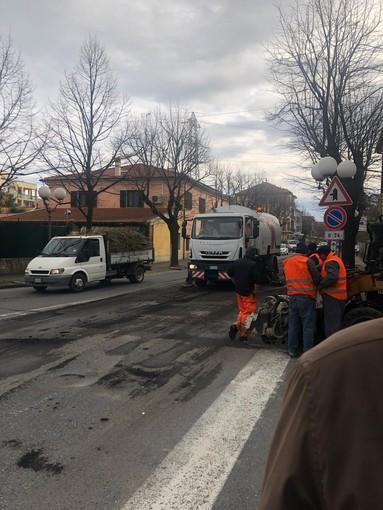 Albenga: al via i lavori di asfaltatura