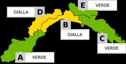 Maltempo in Liguria, emanata allerta gialla nel levante savonese e in Val Bormida