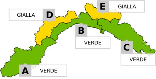 Maltempo in Liguria: prolungata l'allerta gialla per neve nell'entroterra